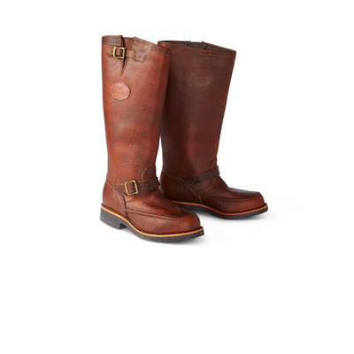 Moccasin Toe Leather Snake Boots
